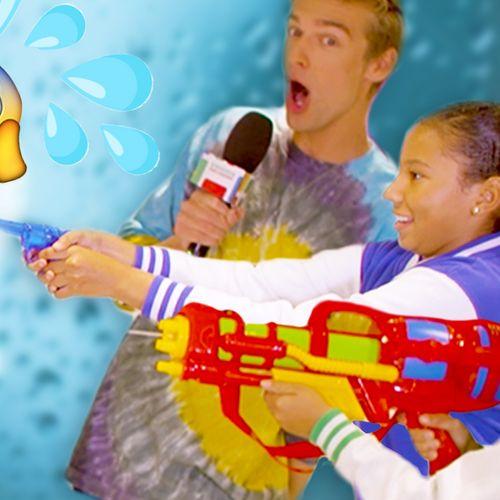 Afbeelding van Emoji quiz met waterpistolen!